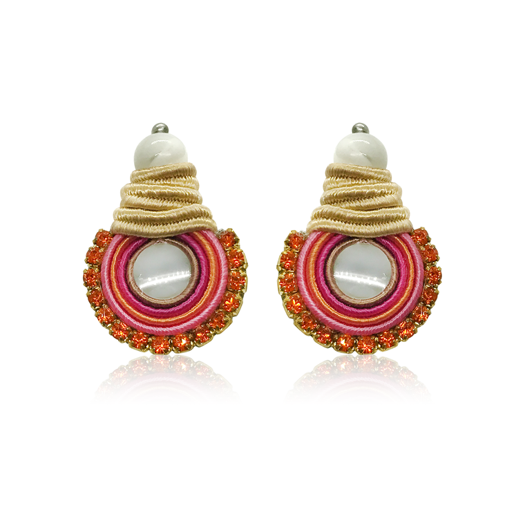 Mini NaKar Orange Earrings