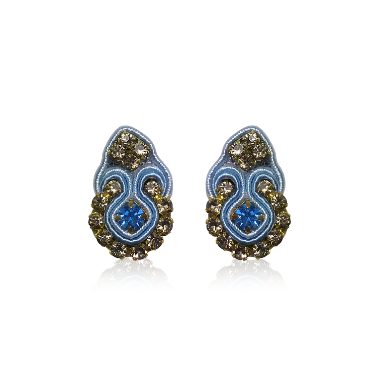 Dopodomani Celeste Mini Fiore Earrings