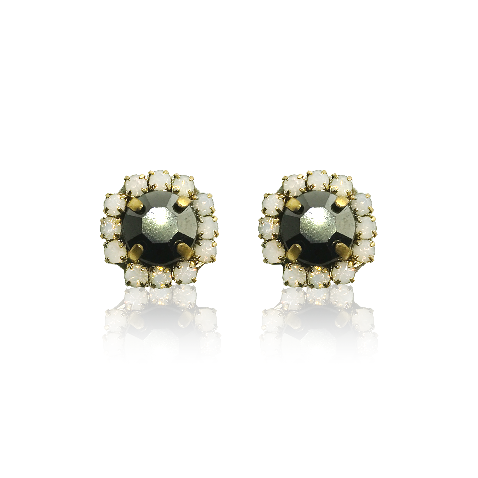 Dopodomani Stones Black Earrings