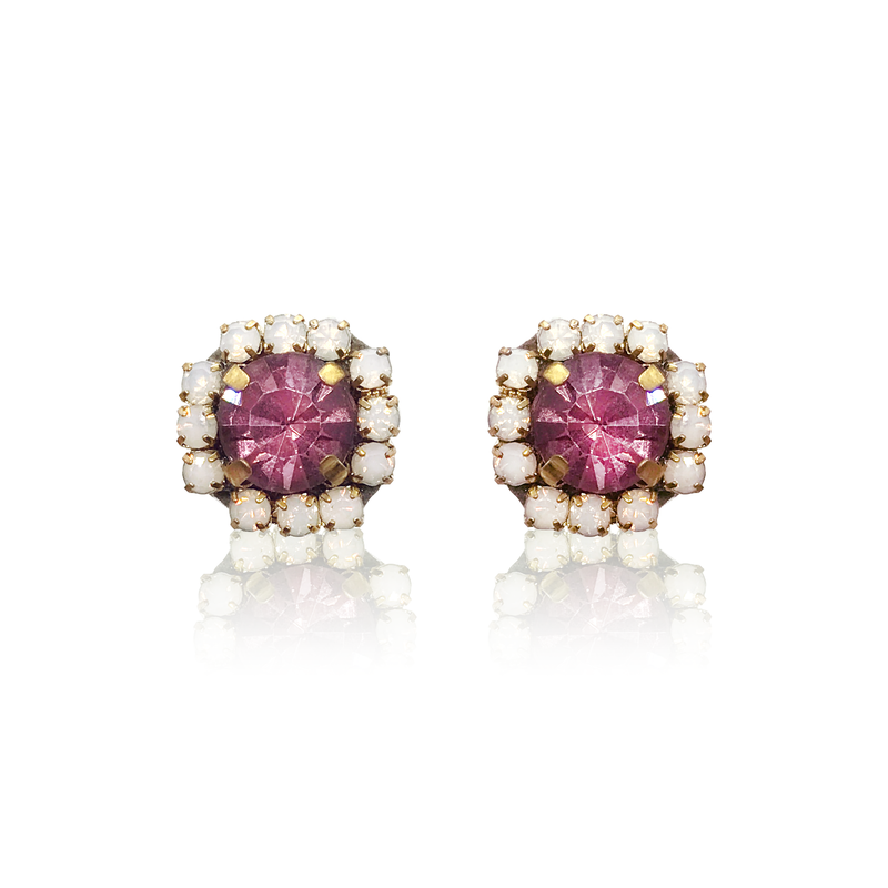 Dopodomani Crystal Pink Earrings
