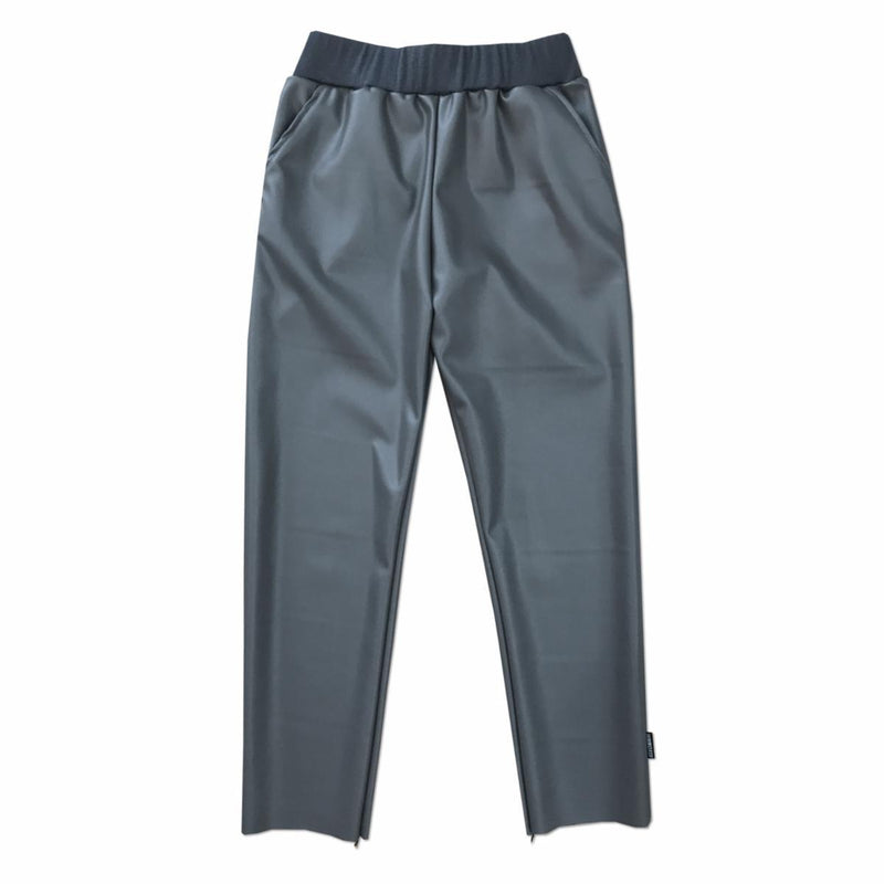 Gray Faux Leather Trouser (1812916633661)