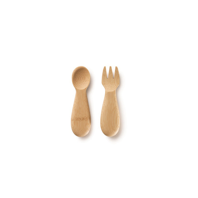 Certified Organic Bamboo Baby's Fork and Spoon Set