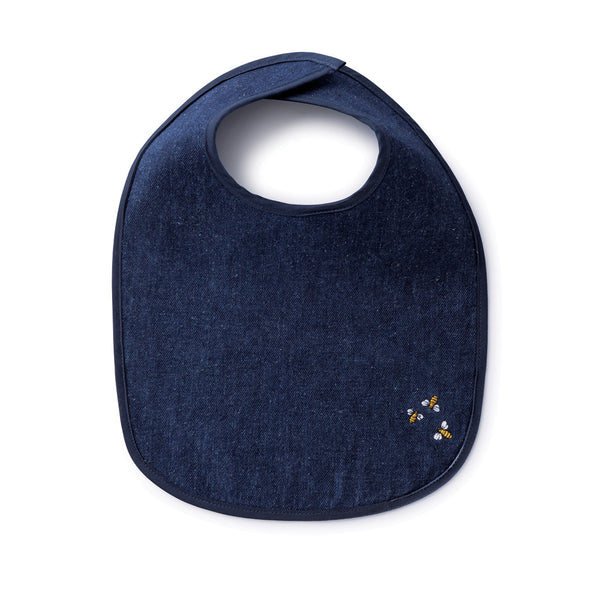 Bambu Hemp Denim Baby Bib with Bees (1570250752061)