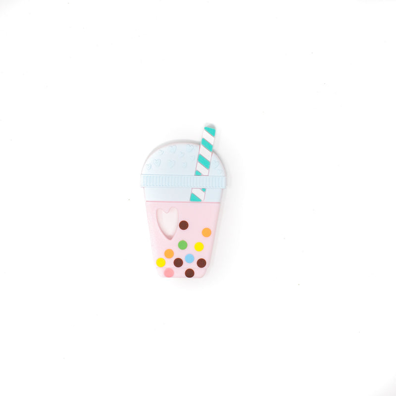Strawberry Boba Silicone Teether (4361029156925)