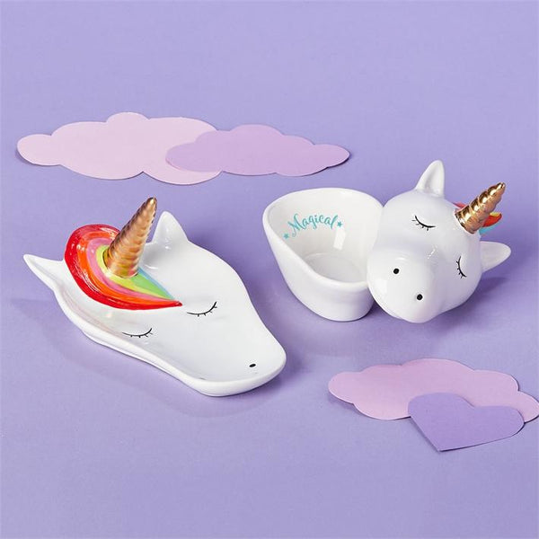 Unicorn Trinket Holder Set (1812915978301)