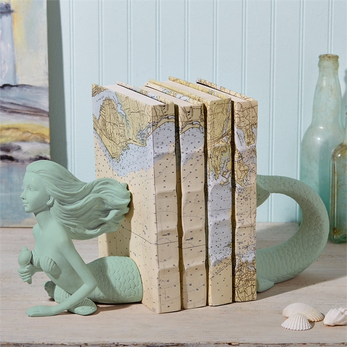 Mermaid Bookend Set | Aqua Blue