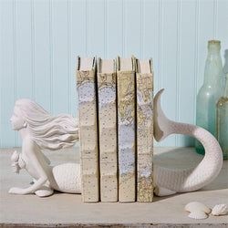 White Mermaid Bookend Set (4364796362813)