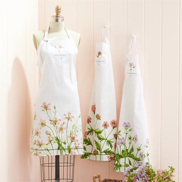 Apron in Ceramic Mug | Blush Rose-Gentian