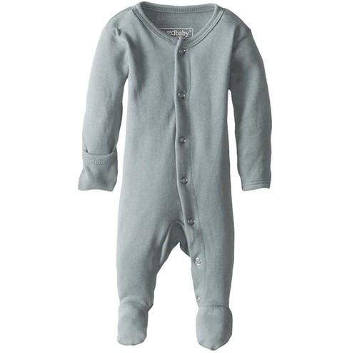 Organic Cotton (GOTS) Organic Footed Overall | Sea Foam (4355195273277)