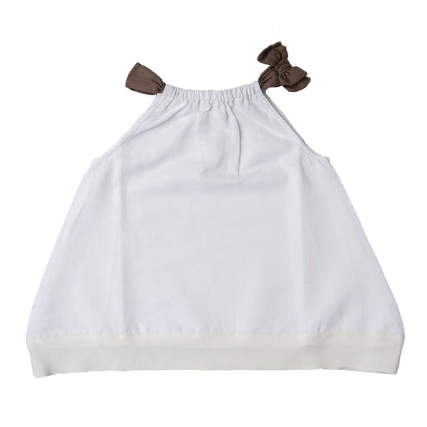Bow Linen Dress - SOOJIN baby shop
