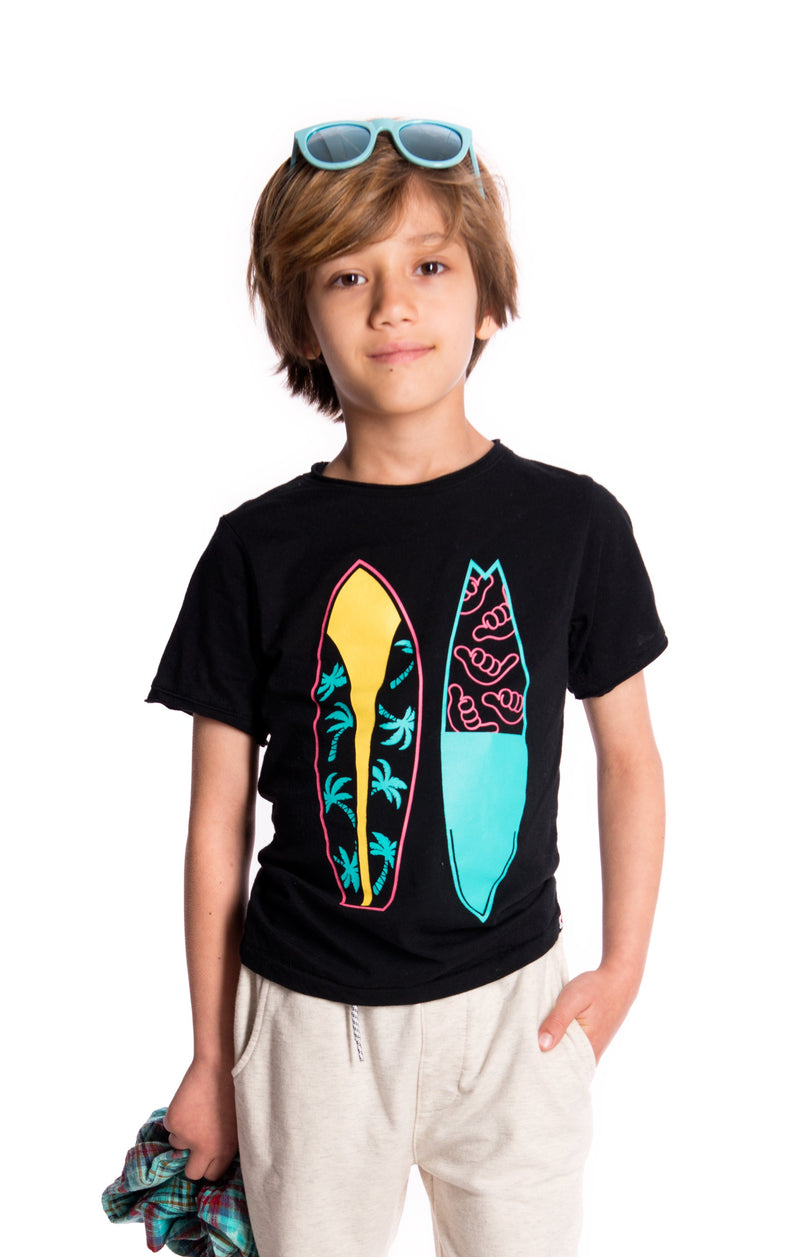 Surfboards Tee Black