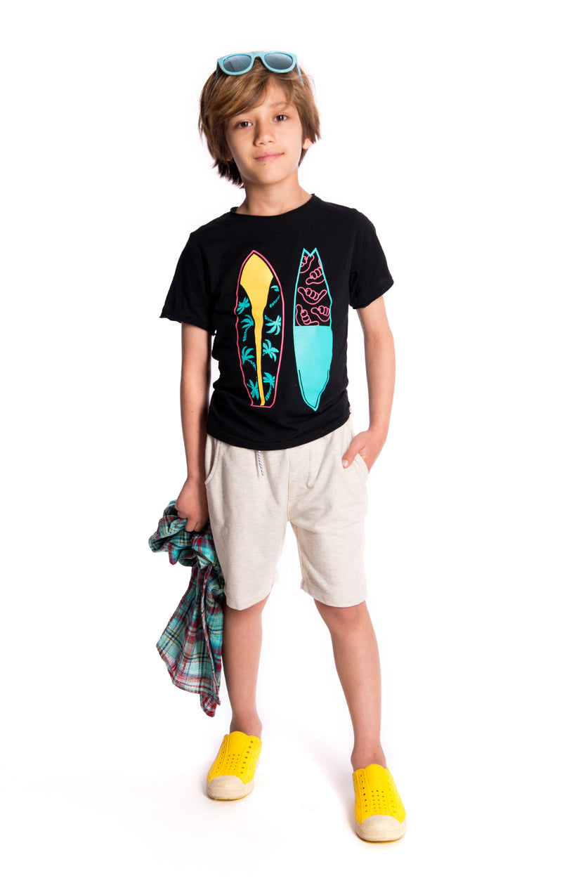 Surfboards Tee Black for boy