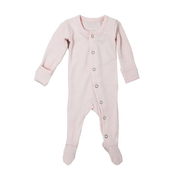 Organic Cotton (GOTS) Organic Footed Overall | Blush (4355194519613)