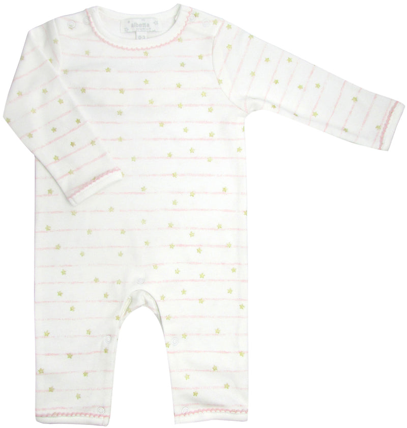 Albetta Little Stars and Angel Wings Cotton Baby Sleepsuit
