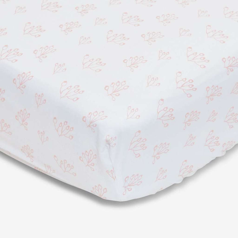 Blush Rose Hip 100% Organic Cotton Crib Sheet (872814673981)