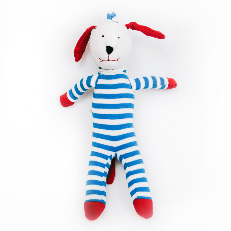 Blue/White Stripes Scrappy Dog (1569130250301)
