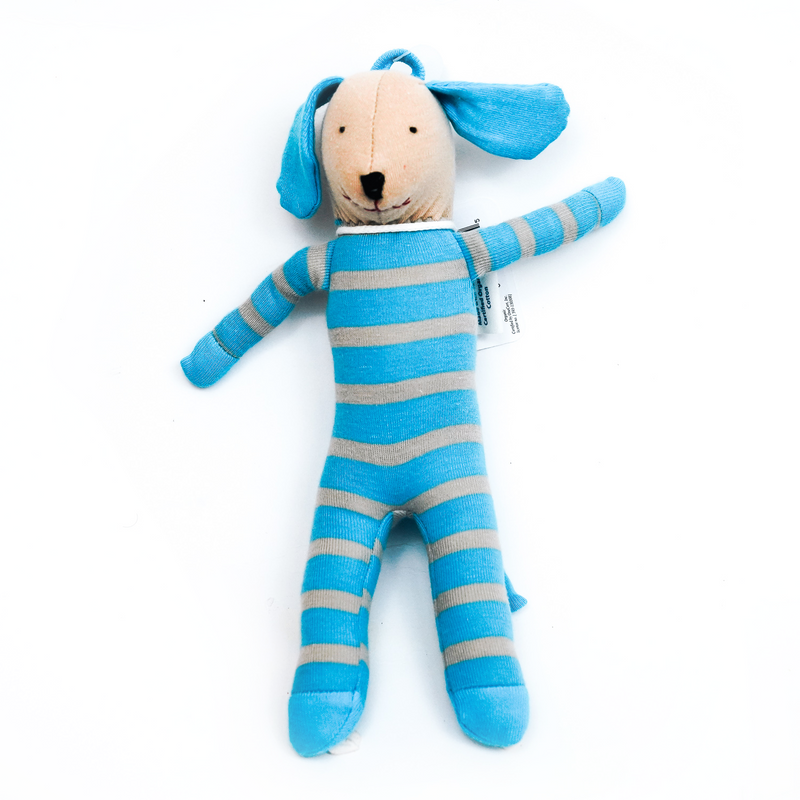 Blue/Gray Stripes Scrappy Dog (4363416338493)