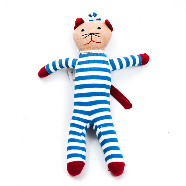 Blue/White Stripes Scrappy Cat (1569135296573)