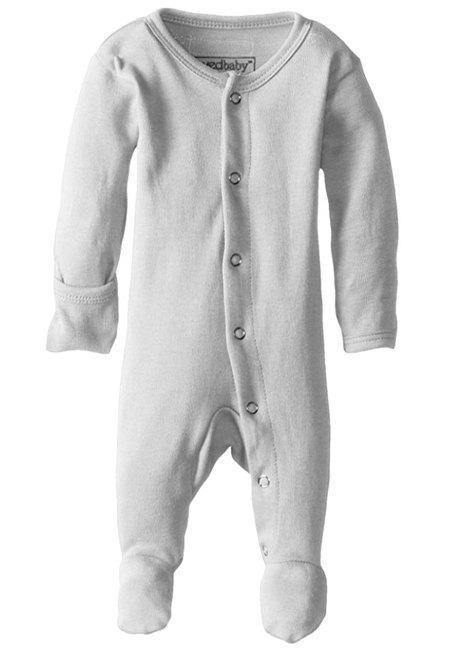 Organic Cotton (GOTS) Organic Footed Overall | Light Gray (4355195207741)