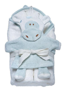 Hooded Towel and Giraffe Wash Cloth