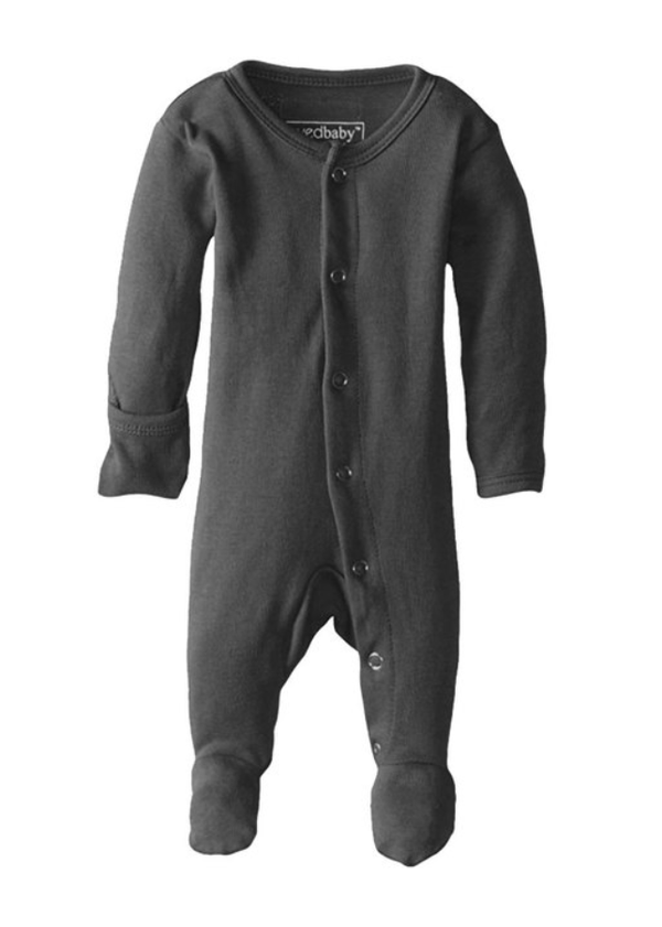 Organic Cotton (GOTS) Organic Footed Overall | Gray (4355194683453)