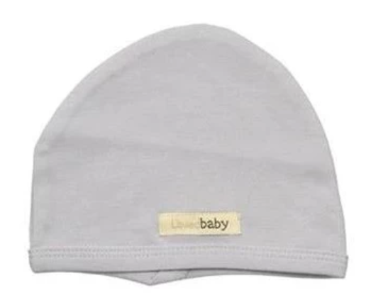 Organic Cotton (GOTS) Newborn Cap | Light Gray (4355207495741)