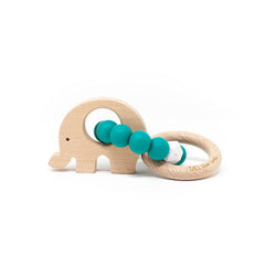 Emerald Elephant Teething Rattle (4361027092541)