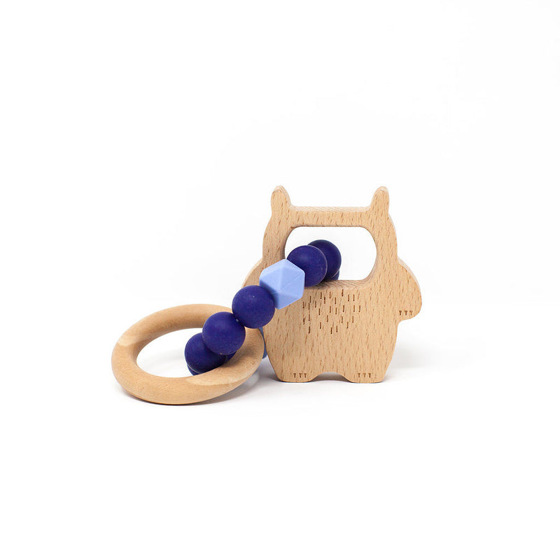 Midnight Blue Wild Thing Teething Rattle (4361052880957)