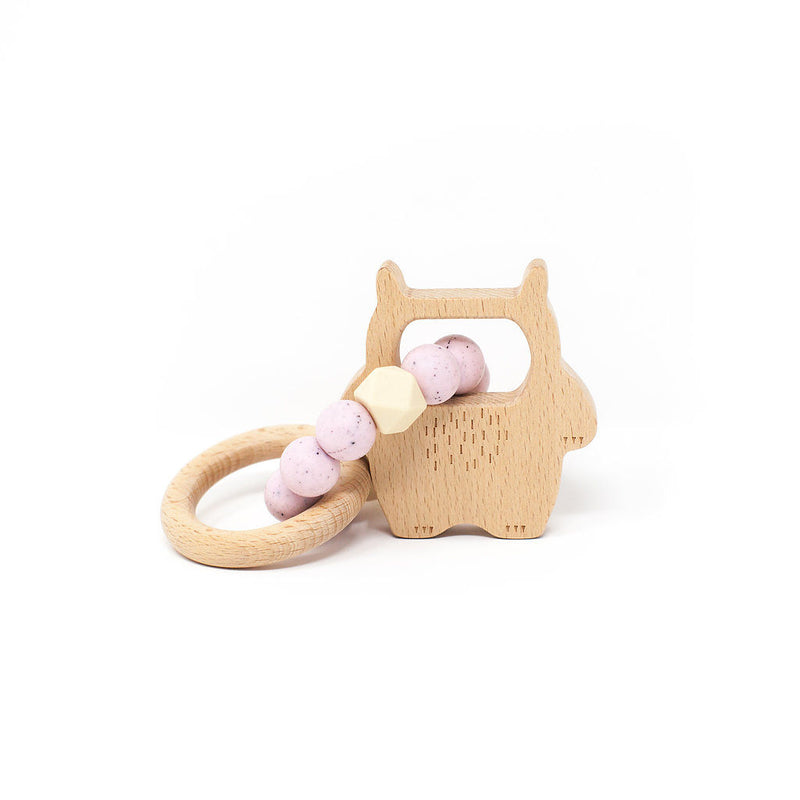 Strawberries and Cream Wild Thing Teething Rattle (4345150111805)