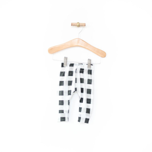 Baby Leggings in Watercolor Gingham - SOOJIN baby shop