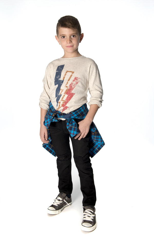 Lightning Bolt Graphic Tee for Boys