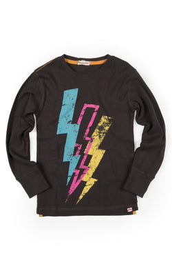 Lightning Bolt Graphic Tee Vintage Black (1812925153341)