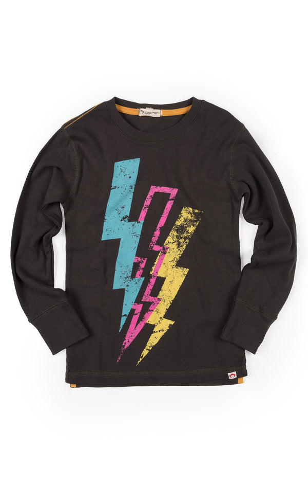 Lightning Bolt Graphic Tee | Vintage Black