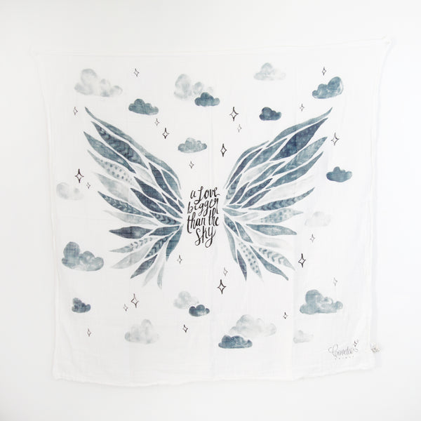 a love bigger than the sky Printed Swaddle Scarf