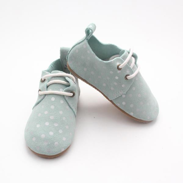 Mint Dots Harper Oxfords (4361103048765)