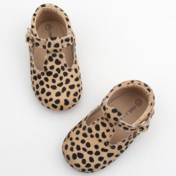 Spotty Leopard Taylor TBars Shoes (4361110290493)