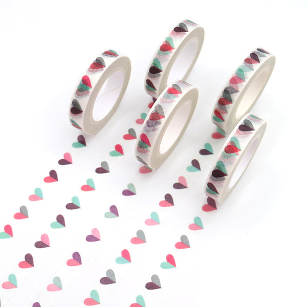 Multi Color Heart Washi Tape (3939737403453)