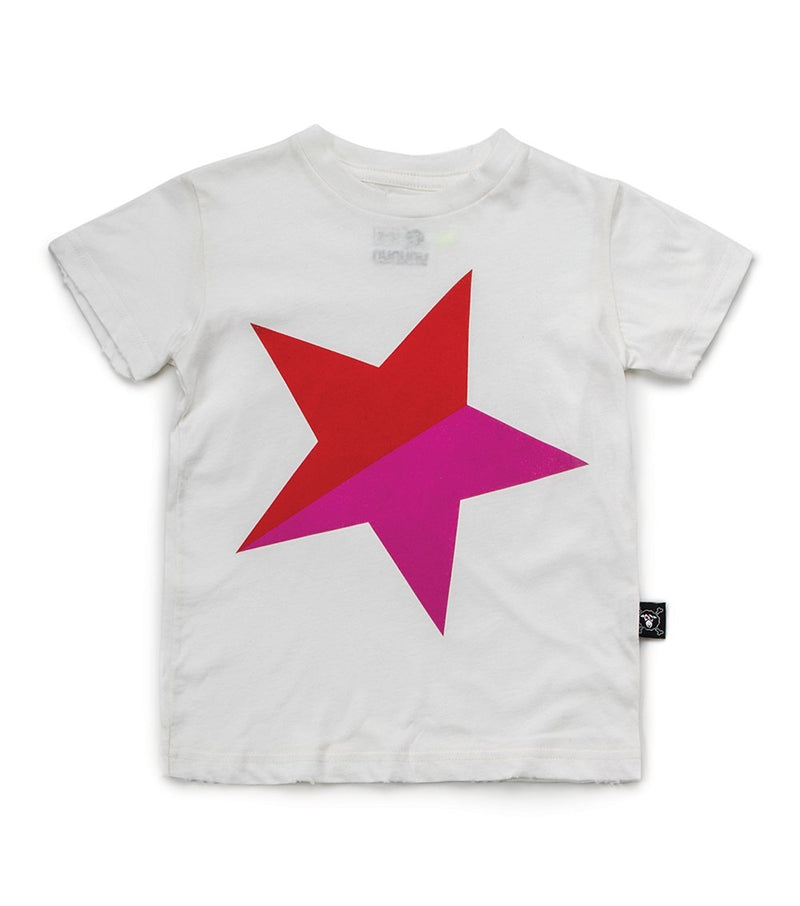 White & Red Star T-Shirt (4366149419069)
