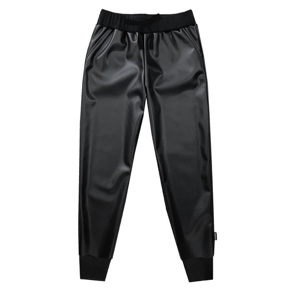 Black Faux Leather Trouser (4364770803773)