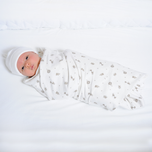 Animal Print and Stripe Swaddle Blankets - SOOJIN baby shop