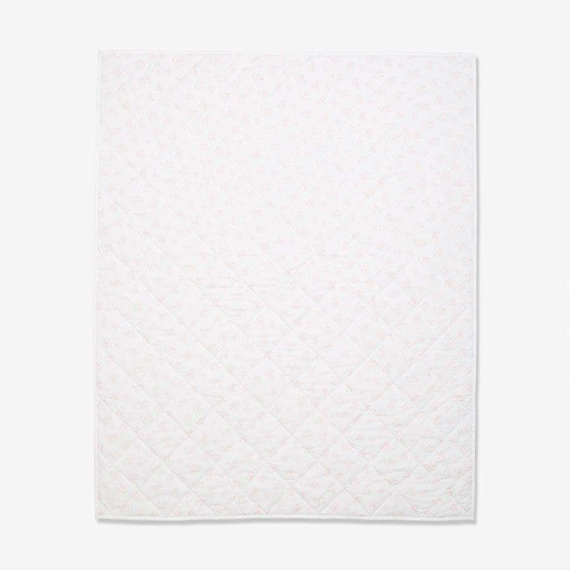 Blush Rose Hip 100% Organic Cotton Quilted Baby Blanket (872823455805)