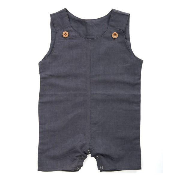 Sleeveless Linen Romper - SOOJIN baby shop