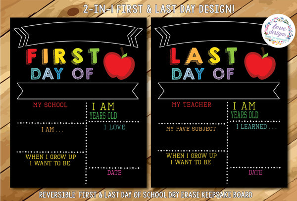 First & Last Day Detailed Sign