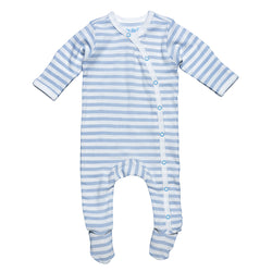 Organic Blue Side Snap Footie (4357917737021)