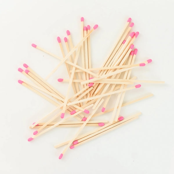Safety Matches in Glass Jar - Bright Pink (4408814043197)