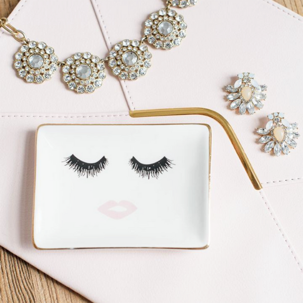 Lashes and Lips Jewelry Dish (4408764006461)