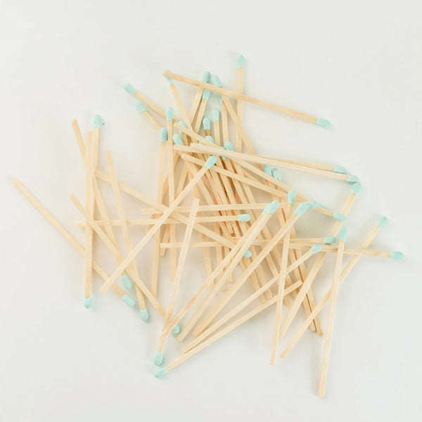 Safety Matches in Glass Jar - Mint (4408816566333)