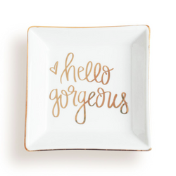 Hello Gorgeous Jewelry Dish (4408764235837)
