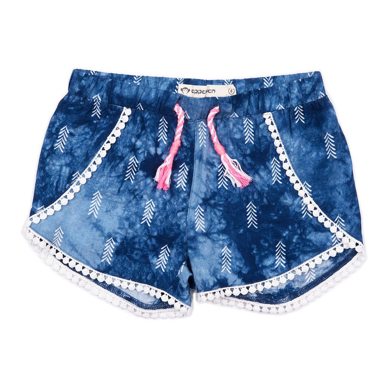 appaman girls spring tao shorts blue arrow