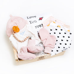 Welcome home gift box for baby girl